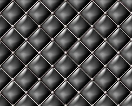 Schwarzes Leder nahtlose Muster.