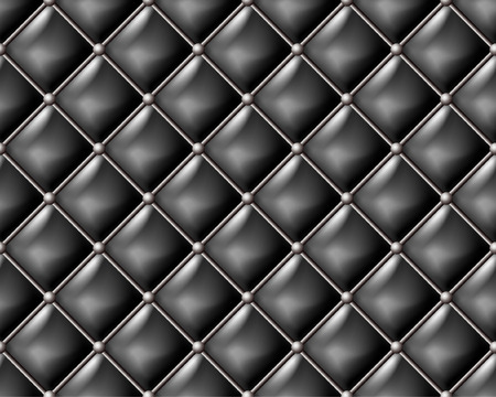 Black leather seamless pattern. Vector