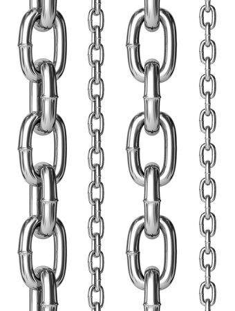 chain link: Seamless chains isolated for continuous replicate. Stock Photo