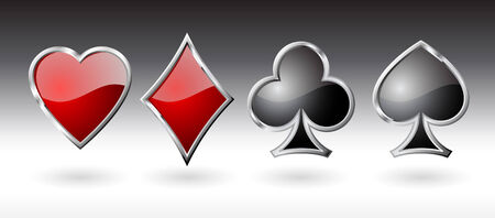 Playing card icons - vector illustration. Vector