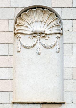 estuco: Nicho en brickwall.