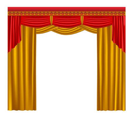 gold curtain. Vector