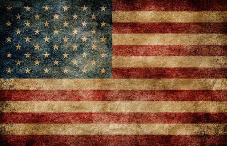 American flag background. photo