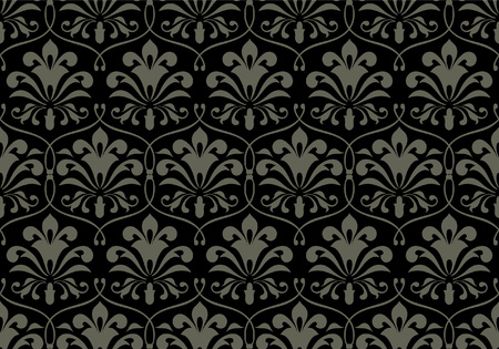 dark gray: Seamless floral background - pattern for continuous replicate. See more seamless patterns in my portfolio. Illustration