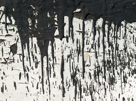 soiled: Abstract stained surface soiled pitch. Stock Photo
