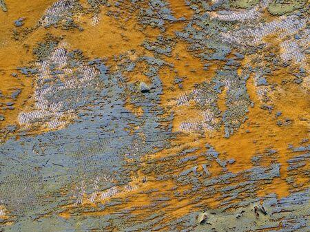 epoxy: Old damaged fiberglass-reinforced plastic texture background. Stock Photo
