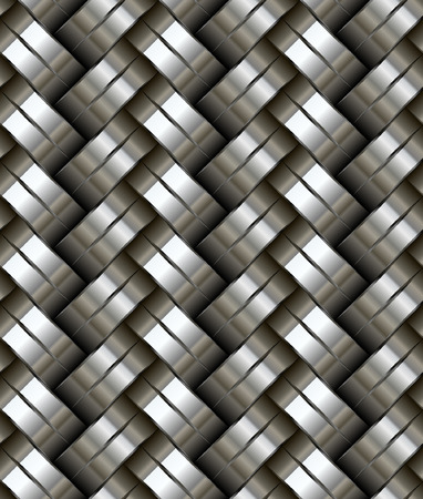 Woven metal seamless pattern - texture pattern for continuous replicate. See more seamless backgrounds in my portfolio. Vector