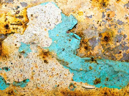 Rusted painted metal surface background. Stock Photo - 7730058