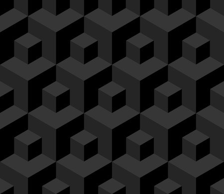 cuboid: Seamless cubes background - vector pattern for continuous replicate. See more seamless backgrounds in my portfolio.