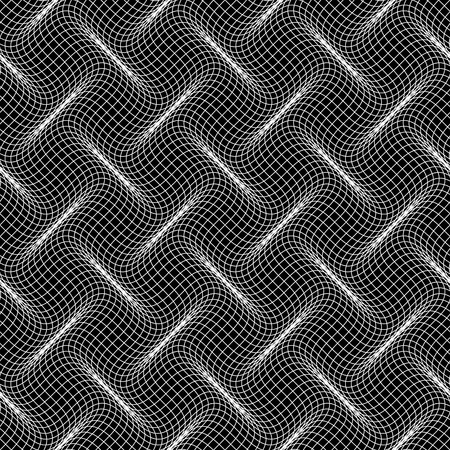 Warped lines seamless pattern. See more seamless backgrounds in my portfolio. Vector