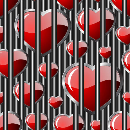 Hearts seamless background - pattern for continuous replicate. See more seamless backgrounds in my portfolio.