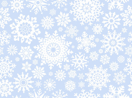 replicate: Snowflakes seamless pattern -  background for continuous replicate. See more seamlessly backgrounds in my portfolio. Illustration