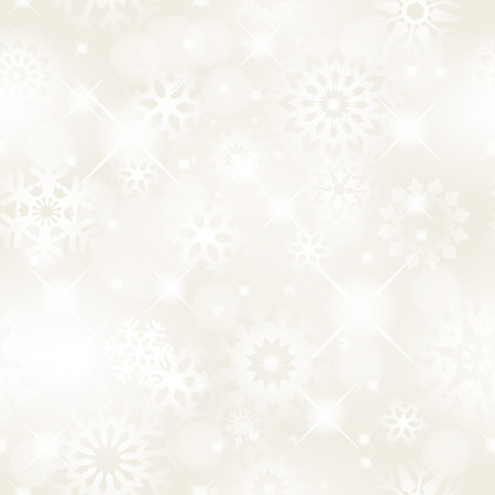 Christmas seamless background with glitter white snowflakes -  background for continuous replicate. See more seamless backgrounds in my portfolio. Stock Vector - 8162735