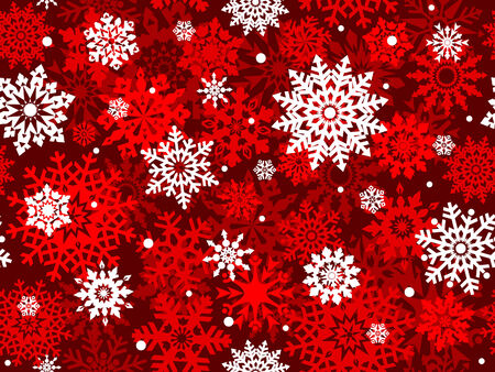 replicate: White snowflakes on red background seamless pattern  background for continuous replicate.