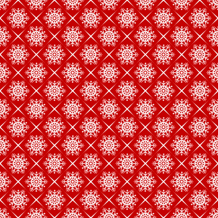White snowflakes on red background seamless pattern Stock Vector - 8289758