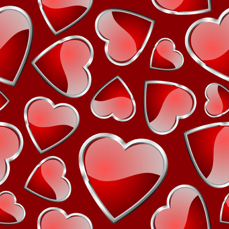 replicate: Hearts seamless pattern - background for continuous replicate. See more  seamless patterns in my portfolio.