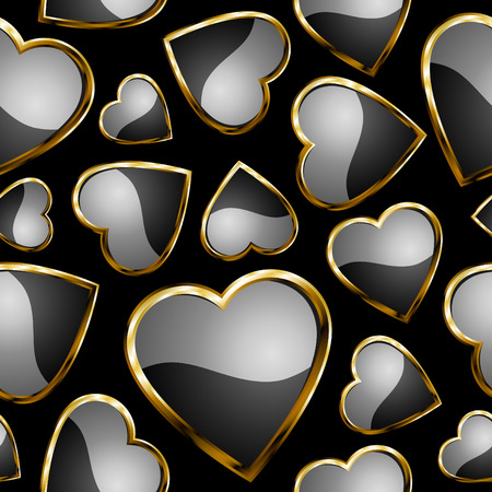 Hearts seamless pattern - background for continuous replicate. See more  seamless patterns in my portfolio. Stock Vector - 8538524