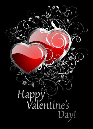 Happy Valentine's Day card. Stock Vector - 8538523