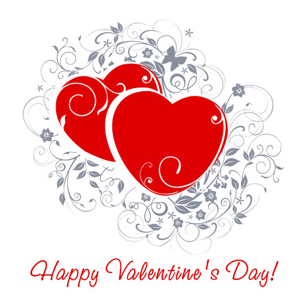 Happy Valentine's Day card. Stock Vector - 8569338