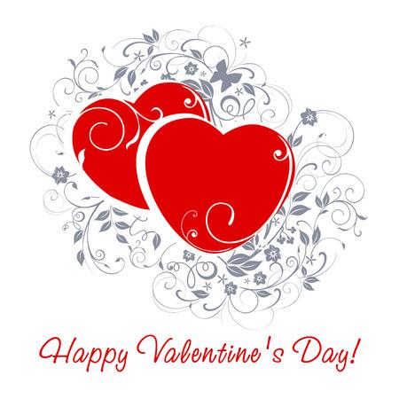Happy Valentinstag-Card. Vektorgrafik