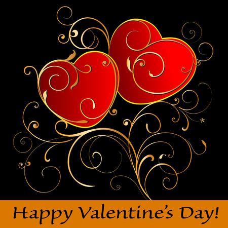 day valentine's day: Happy Valentines Day card.