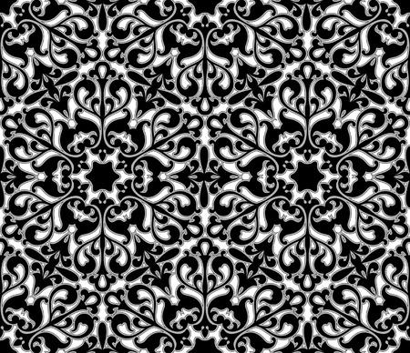 ペルシア: シームレスな花の背景 - 継続的なレプリケーションの背景。私のポートフォリオでより多くのシームレスなパターンを参照してください。  イラスト・ベクター素材
