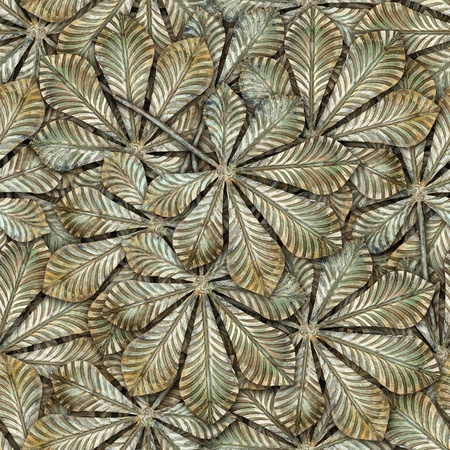 hammered: Bronze chestnut leafs seamless background - seamless pattern for continuous replicate. See more seamless patterns in my portfolio.