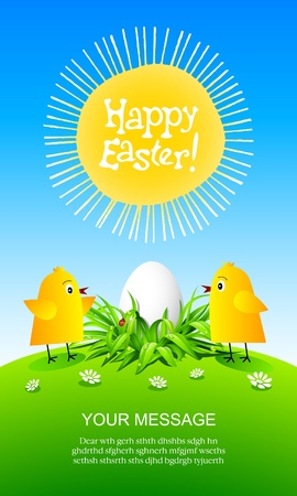 sprightly: Happy Easter greeting card.