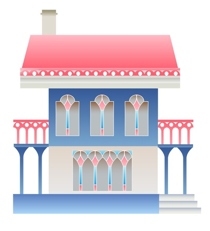 archway: House on white background.