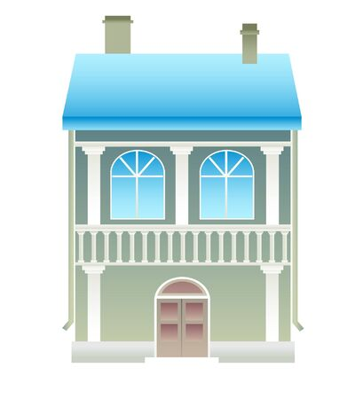 House on white background. Stock Vector - 9549729