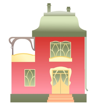 House on white background. Vector