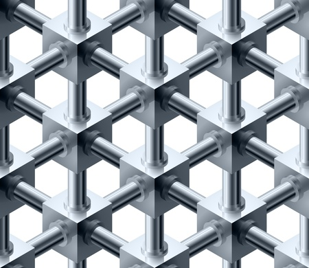the blue cell: Crystalline cubes seamless pattern - vector background for continuous replicate. See more seamlessly backgrounds in my portfolio. Illustration