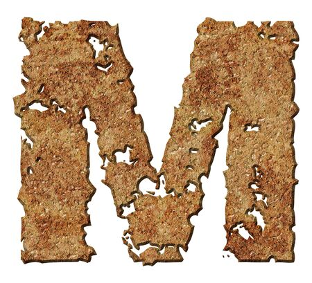 Rusty letters with torn edge isolated on white background (series). Stock Photo - 10359720