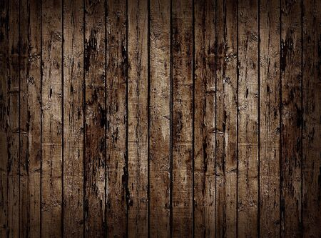 fence panel: Worn brown wooden planking background.