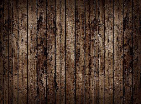 untidily: Worn brown wooden planking background.