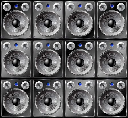 Speakers seamless background - vector pattern for continuous replicate. See more seamlessly backgrounds in my portfolio. Vector