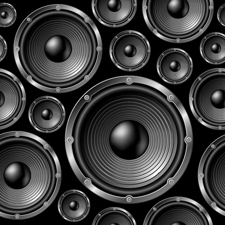speaker icon: Speakers seamless background - vector pattern for continuous replicate. See more seamlessly backgrounds in my portfolio.