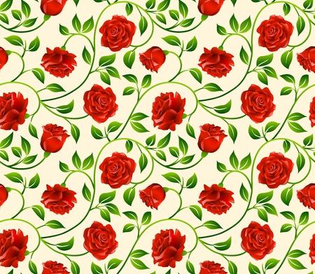 バラのシームレスな背景 - 継続的なレプリケーションのためのパターン。私のポートフォリオでより多くのシームレスな背景を参照してください。  イラスト・ベクター素材