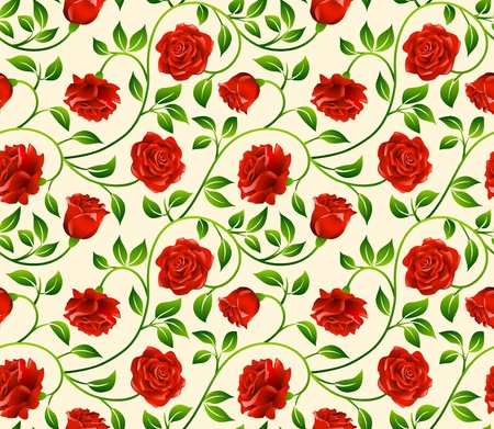Roses seamless background - pattern for continuous replicate. See more seamless backgrounds in my portfolio. Stock Vector - 10770883
