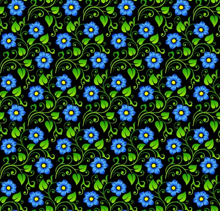 replicate: Floral seamless background - pattern for continuous replicate. See more seamless backgrounds in my portfolio. Illustration