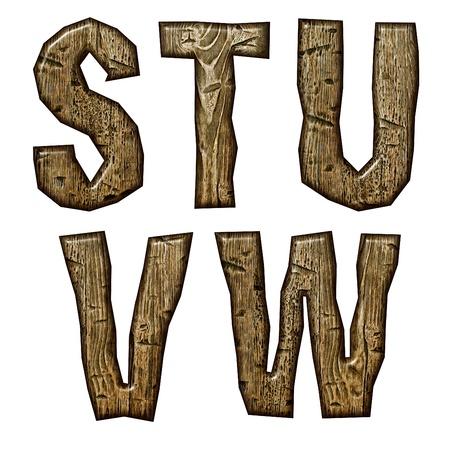 Wooden alphabet isolated on white background. Stock Photo - 10895628