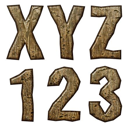 Wooden alphabet isolated on white background. Stock Photo - 10895629