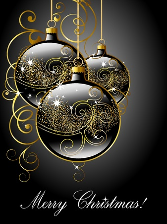 Merry Christmas greeting card.  Vector