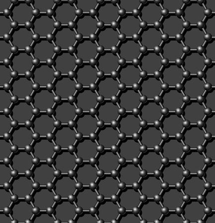 シームレスな炭素分子格子背景 - 継続的なレプリケーションのためのベクトル パターン。私のポートフォリオの背景よりシームレスに参照してくだ  イラスト・ベクター素材