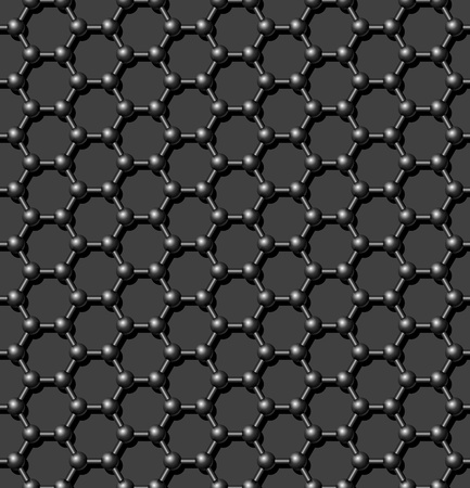 Seamless carbon molecular lattice background - vector pattern for continuous replicate. See more seamlessly backgrounds in my portfolio. Imagens - 11157331