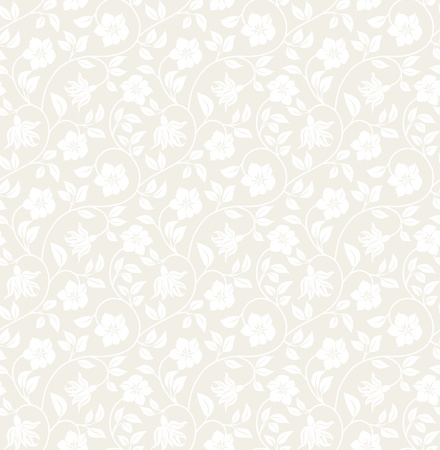 Floral seamless background - pattern for continuous replicate. See more seamless backgrounds in my portfolio. Vector