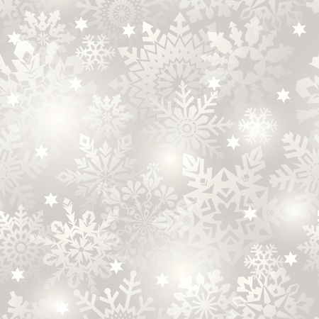replicate: Snowflake seamless background - vector pattern for continuous replicate. See more seamlessly backgrounds in my portfolio.