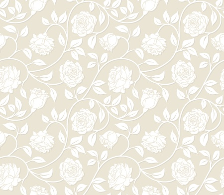 Roses seamless background - pattern for continuous replicate.  Vector