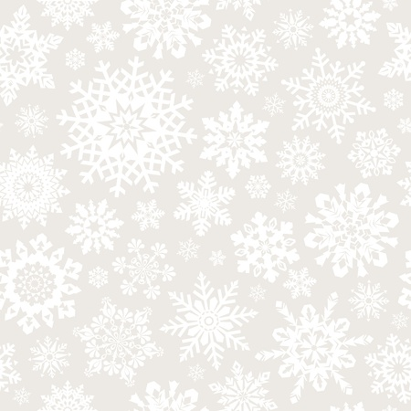 Seamless snowflakes pattern for continuous replicate.  Vector