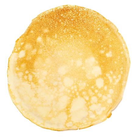panqueques: Pancake aisladas sobre fondo blanco. Foto de archivo